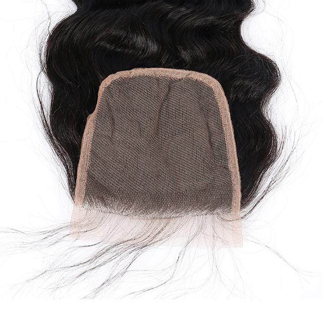 Lace Closure Brazilian Virgin Hair 4×4 Deep Wave CARA Human Hair Free Part With Baby Hair