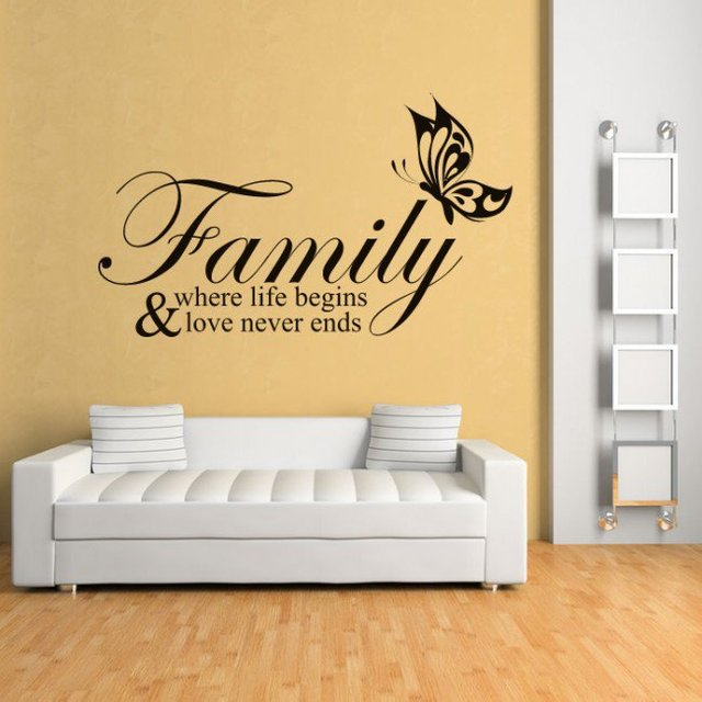 Modern Stickers Family Where Life Begins Family & Friends Quotes ...