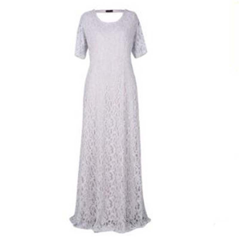 Spring Summer Lace Large New Grey White 9xl Size And Y123 Hollow The Xl United States Dress wine Short black sleeved apricot Europe light Red Women Full rTqr5