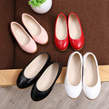 Autumn princess bright color pu shoes girls shoes casual and simple leather shoes student shoes kids soft dough footwear 16J21