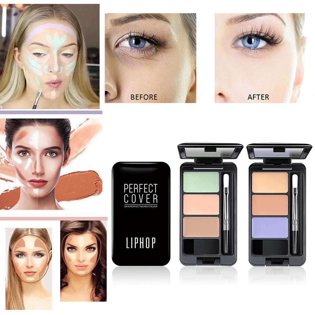 Nuovo Colore Di Trucco 3 Colori Matte Viso Camuffamento Di Concealer Crema Contorno Tavolozze Vestito Duraturo Cosmetici Trucco Maquillaje