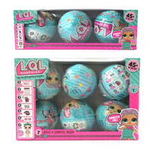 3pcs/6pcs/ lot LOL Surprise Doll Water Spray Color Change Egg Ball Doll Surprise Dolls Educational Novelty Action Figure Toy