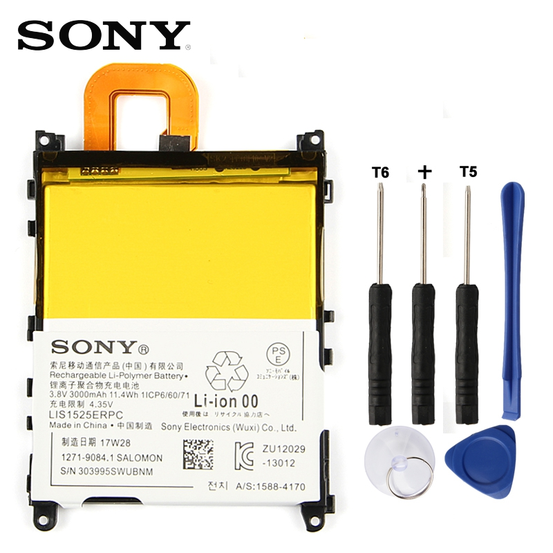 Original Ersatz Sony Batterie Für SONY L39h Xperia Z1 Honami SO-01F C6902 C6903 LIS1525ERPC Echtem Telefon Batterie 3000 mah