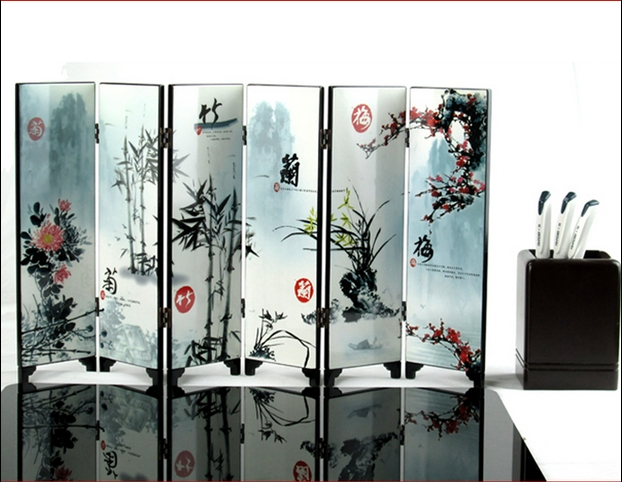 Online buy wholesale folding screen from china folding for Cheap decorative screens