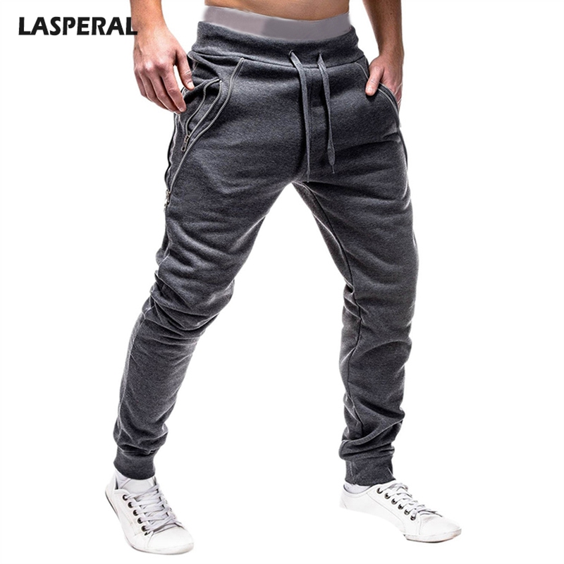 5e04040f936 Detail Feedback Questions about LASPERAL Casual Hip Hop Pants Men Zipper  Drawstring Solid Slim Joggers Trousers Black Men Casual Long Pants Plus Size  3XL on ...