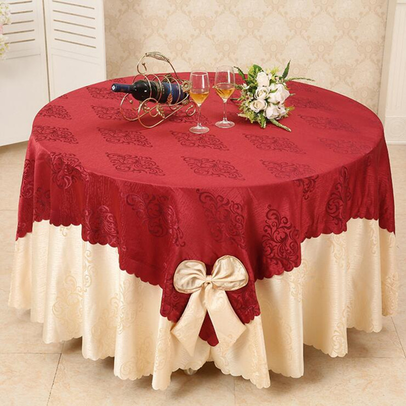 5pcs/lot Jacquard TABLE CLOTH Restaurant table cloth dinner polyester table decoration wedding suppliers for hotel free shipping