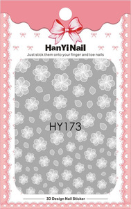 Image 3 - 1 sheet NailMAD Lotus Nail Sticker White Transparent Flower 3D Nail Art Stickers Nail Stickers Nail Decals