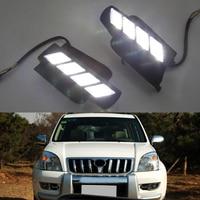 СВЕТОДИОДНЫЙ DRL Туман лампа дальнего света Габаритные огни для Toyota Prado 2700 Fj120 LC120 2003 2009
