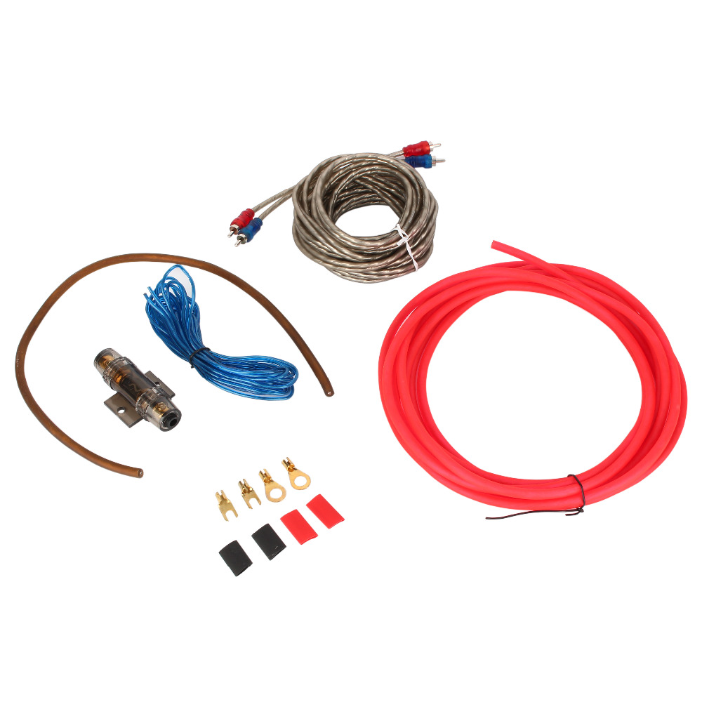 compare prices on car audio amp wiring kit online shopping buy oversea 1500 watt complete 8 gauge car amp audio amplifier cable subwoofer wiring kit