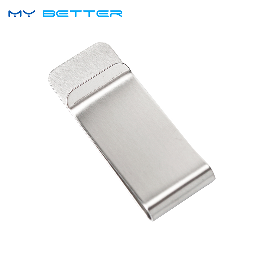 1PC Money Clip Cash Clamp Holder Portable Stainless Steel Money Clip Wallet Purse for Pocket Metal Money Holder fashion $ money clip cash clamp holder portable stainless steel money clip wallet purse pocket metal money holder men gift