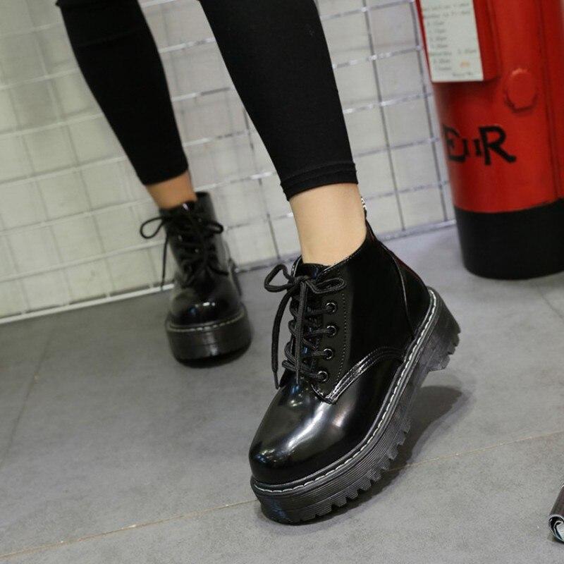 La Automne Cheville Femmes Chaussures Plus forme Cuir vert Noir Hiver Cootelili Dames Pour Plate Bottes Taille 40 Gladiateur 35 Verni En A5vzWPxf