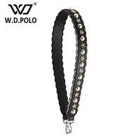 WDPOLO New Split Leather Pearl Flowers Design Handbag Belt Popular Trendy Bags Strap Bag Part Easy