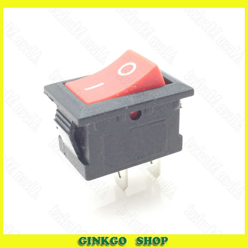1000 pcs/lot Interrupteur À Bascule 15X21mm Rouge Bouton 2 Pied Puissance Bascule Interrupteur
