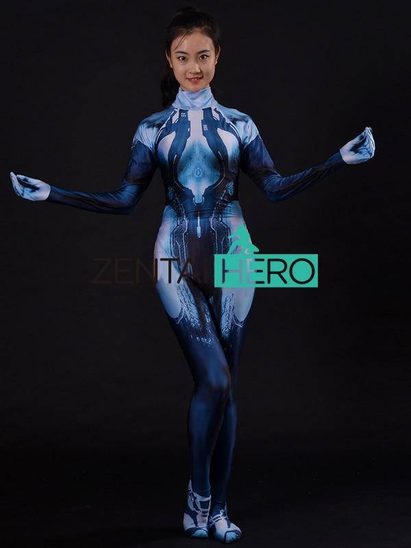 aliexpresscom buy 3d print custom halo cortana costume game girl cortana cosplay suit women zentai halloween cosplay costumes lycra zentai catsuit from - Halloween Halo