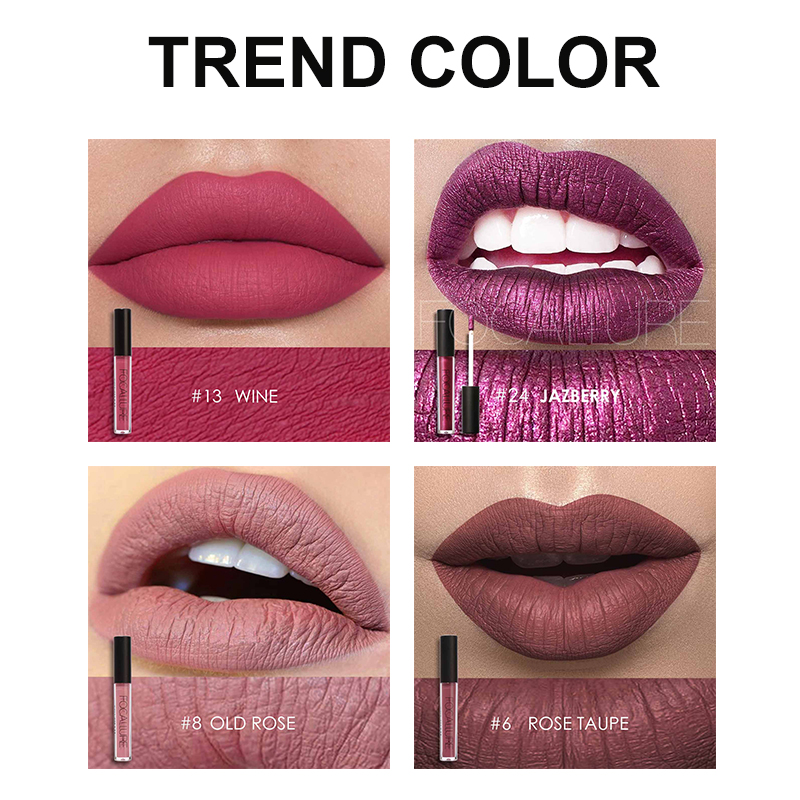 FOCALLURE Matte Lipgloss Sexy Liquid Lip Gloss Matte Long Lasting Waterproof Cosmetic Beauty Keep 24 Hours Makeup lipgloss 2