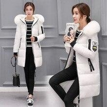 Зимняя куртка женская 2018 Новая женская парка пальто feminina длинный пуховик плюс размер длинный с капюшоном утиный пух пальто куртка женская