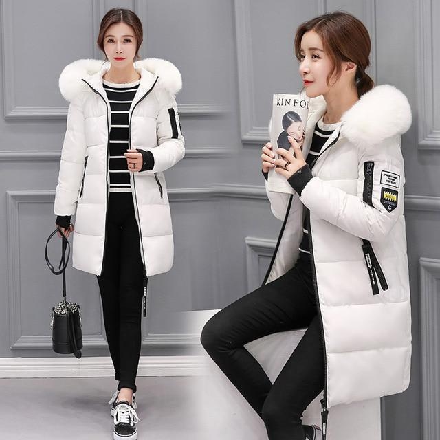 Áo khoác mùa đông phụ nữ 2017 new female parka coat feminina dài xuống áo khoác cộng với kích thước dài trùm đầu vịt xuống coat áo khoác phụ nữ