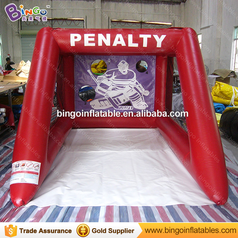 Free shipping 2.5X3.5X2M PVC Inflatable football shooting games for kids inflatbale soccer goal for sport games outdoor toys