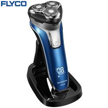 Flyco Intelligent anti-clip system three independent floating heads Entire Machine washable Pop-up Trimmer Electric shaver FS375