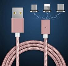 Silnego pola magnetycznego ładowarka kabel ze stopu aluminium Micro USB kabel do Androida telefon komórkowy iPhone typu C szybkie ładowanie drutu odporne na kurz