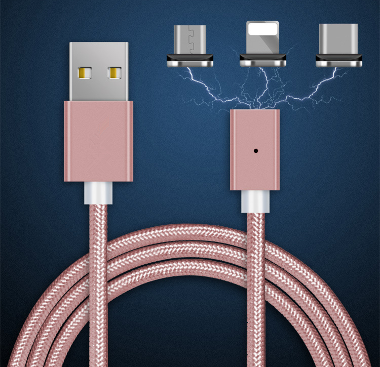 Strong Magnetic Charger Aluminum Alloy Cable Micro USB Cable For Android Mobile Phone iPhone Type C Fast Charge Wire Dust proof-in GPS Accessories from Automobiles & Motorcycles