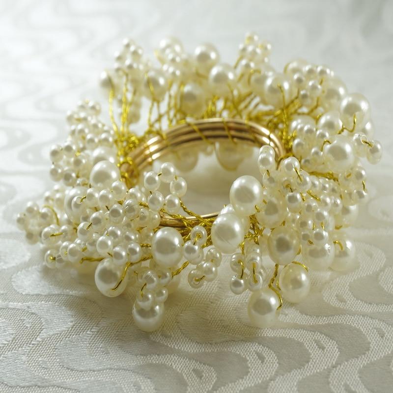 Qn16031601 Napkin Ring Pearl Beaedes Decoration, Wholesale Wedding Napkin Holder,