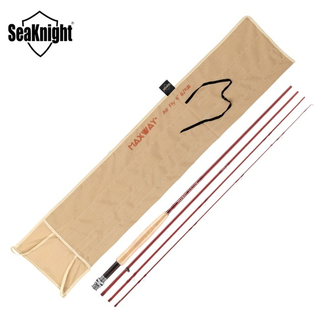 SeaKnight MAXWAY Air Fly 4/5# Fishing Rod 2.7M 9FT 4 Sections L Power 40T Carbon Cork Handle River Fly Rod Fishing Tackle удочка good fishing nepalese tdg021 4 5 5 4