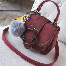 ETAILL New Fashion Women Shoulder Bag 2018 Nubuck Pu Leather Flap Saddle Bag Designer Handbags Messenger Bags With Metal Buckle