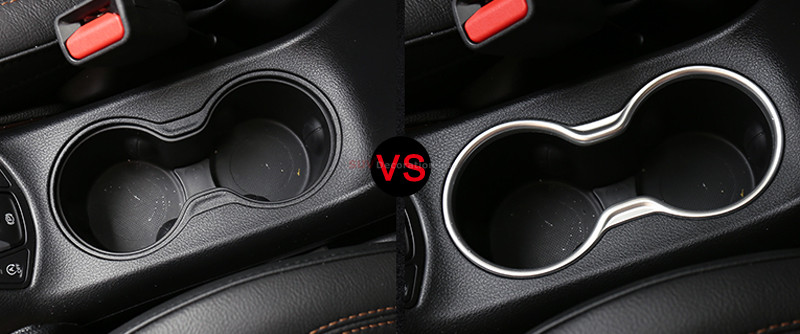 Accessories Matte Interior Seat Water Cup Holder Frame