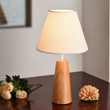LukLoy Nordic Simple Wooden LED Table Lamp Bedroom Study Gifts LED Desk Lamp Art Table Light Dormitory Reading Lighting Home OEM(China)