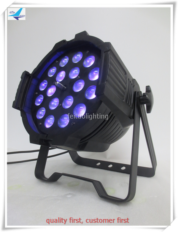 DMX Par Can DJ Uplighting Led spotlights par 18x18w rgbwa uv led par zoom