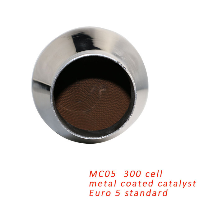 US $67 8  Car Exhaust Catalytic Converter Metal Coated Catalyst For Auto  Muffler Replacement Euro 3/5 standard 300 Cell Free Shipping-in Catalytic