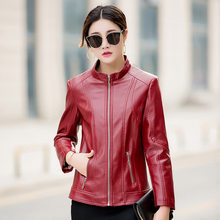 KMETRAM Leather Jacket Woman Spring 2019 Streetwear Bomber Jacket Women PU Leather Coat Plus Size 5xl 6xl Chaqueta Mujer MY2624(China)
