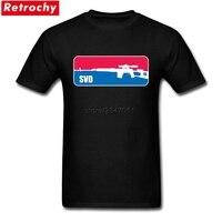 Loose Fit Tees גברים חולצות T רוסית רובה צלפים SVD מותג יוקרה זכר חולצות כותנה שרוול קצר צווארון עגול מותאם אישית 3XL בגדים