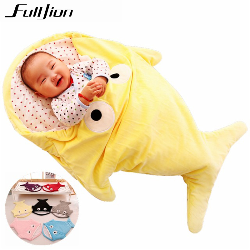 <font><b>Baby</b></font> Sleeping Bags Envelope For Newborns Shark Sleepsack Children Winter Swaddle Bedding <font><b>Blanket</b></font> <font><b>Baby</b></font> Sleep Organic Bed Stroller