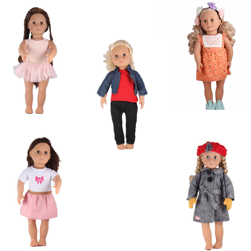 Our Generation Doll 45cm American Girl Doll Brown Wig 18inch Doll Baby Toys Birthday Gift For Girls [mmmaww] christmas costume clothes for 18 45cm american girl doll santa sets with hat for alexander doll baby girl gift toy