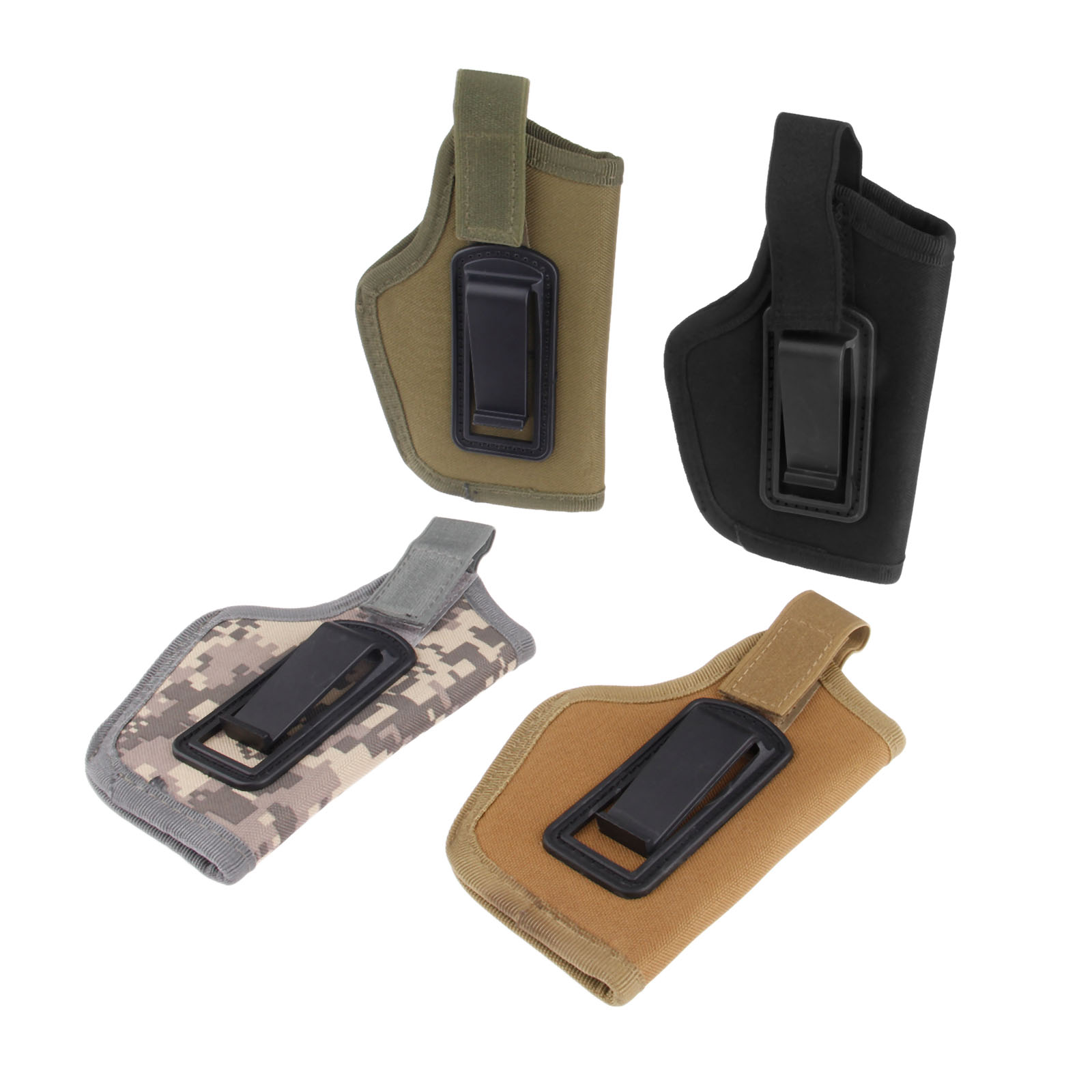 1 Pc Left & Right Hunting Bags Tactical Concealed Carry Gun Pistol Holster Pouch Clip On Belt Fit All Compact/Subcompact Pistols