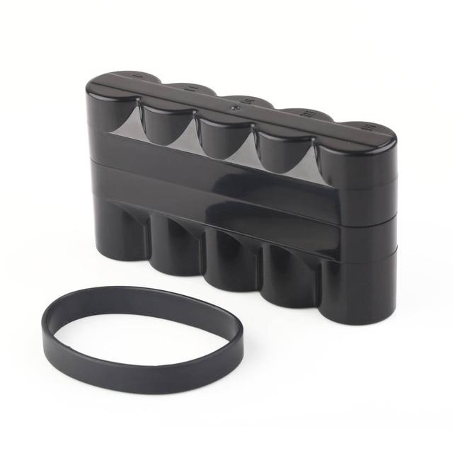 New Waterproof Black Plastic Travel 5 Rolls of 120 Film Case Storage Box 137mm x 73mm