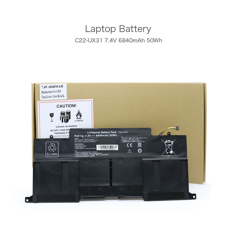 7.4V 6840mAh 50Wh C22-UX31 Rechargeable Li-polymer Battery Pack for ASUS ZenBook UX31 UX31A UX31E Ultrabook
