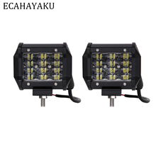 ECAHAYAKU 3 rows 4inch 12V Car Led Work Light Bar 36W 6000K IP68 Driving Beam Pods for Offroad 4x4 SUV ATV Trailer Trucks
