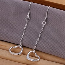 Wholesale jewelry silver plated earrings jewelry silver plated fashion jewelry  Warm Heart Earrings E086