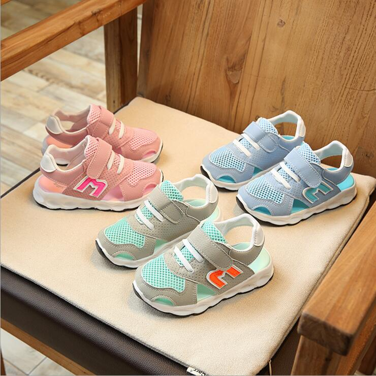 2018 Boys And kids Sandals Children Sneakers New Summer Closed Toe Beach Sandals Fashion Sport Shoes Boys Girls Running Shoes