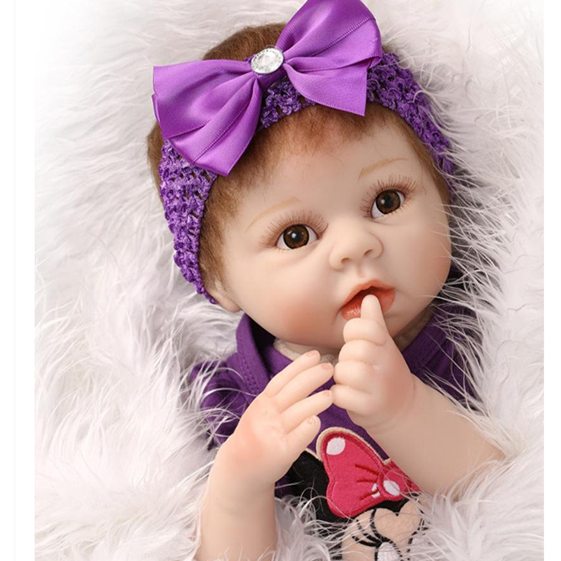 20 Real Reborn Babies Newborn Toys for Girls Children,Realistic Silicone Reborn Baby Dolls with Clothes Brown Eyes 20 real reborn babies bonecas newborn baby dolls with clothes lovely reborn silicone baby dolls educational toys for children