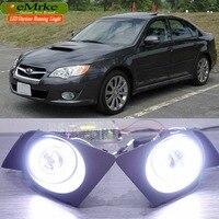 Eemrke светодио дный Ангел глаз DRL для Subaru Legacy Sedan/Wagon 2007 2008 2009 Галогенные Противотуманные фары H11 55 Вт Габаритные огни
