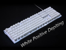 Side-printed Top-printed 108/104 White&Black Keycaps PBT Radium Vulture Keycap for Wired USB Mechanical keyboard