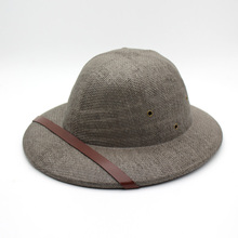 0ec3e4db281dd Novelty Toquilla straw Helmet Pith Sun hats For Men Vietnam War Army Hat  Dad Boater Bucket