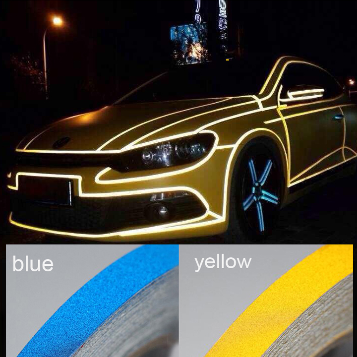 Auto Reflective Sticker Warning Sticker Motorcycle Decorative Strip Waterproof Car Accessories Bicycle Adhesive Warning Tape