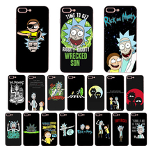 Rick And Morty Phone Case Cover For iPhone X xs max xr  8 7 6 6S Plus SE 5S 5 Soft Silicon Protective Transparent mobile shell цена