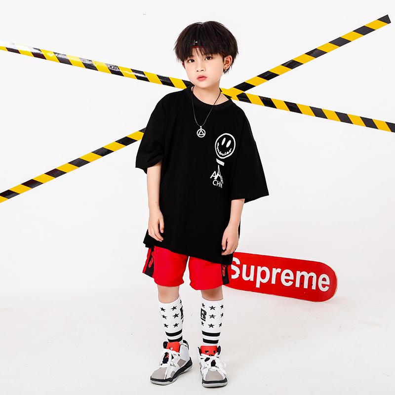 Boy Girl summer 2019 clothes Set 4 6 8 10 12 14 16T hip hop dance costumes kids Jazz set on the boy outfits kids clothes boys (5)