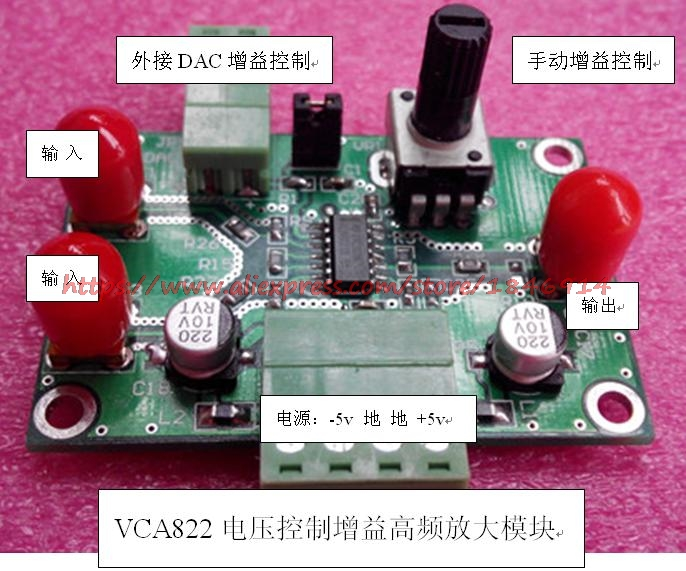 VCA822 VCA Module Voltage Controlled Gain Amplifier VCA810 Upgrade 822